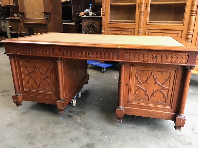 1 Gothic - style Double Sided Desk - 1 Gothic - Style Double Sided Desk - Desks - Items By Category