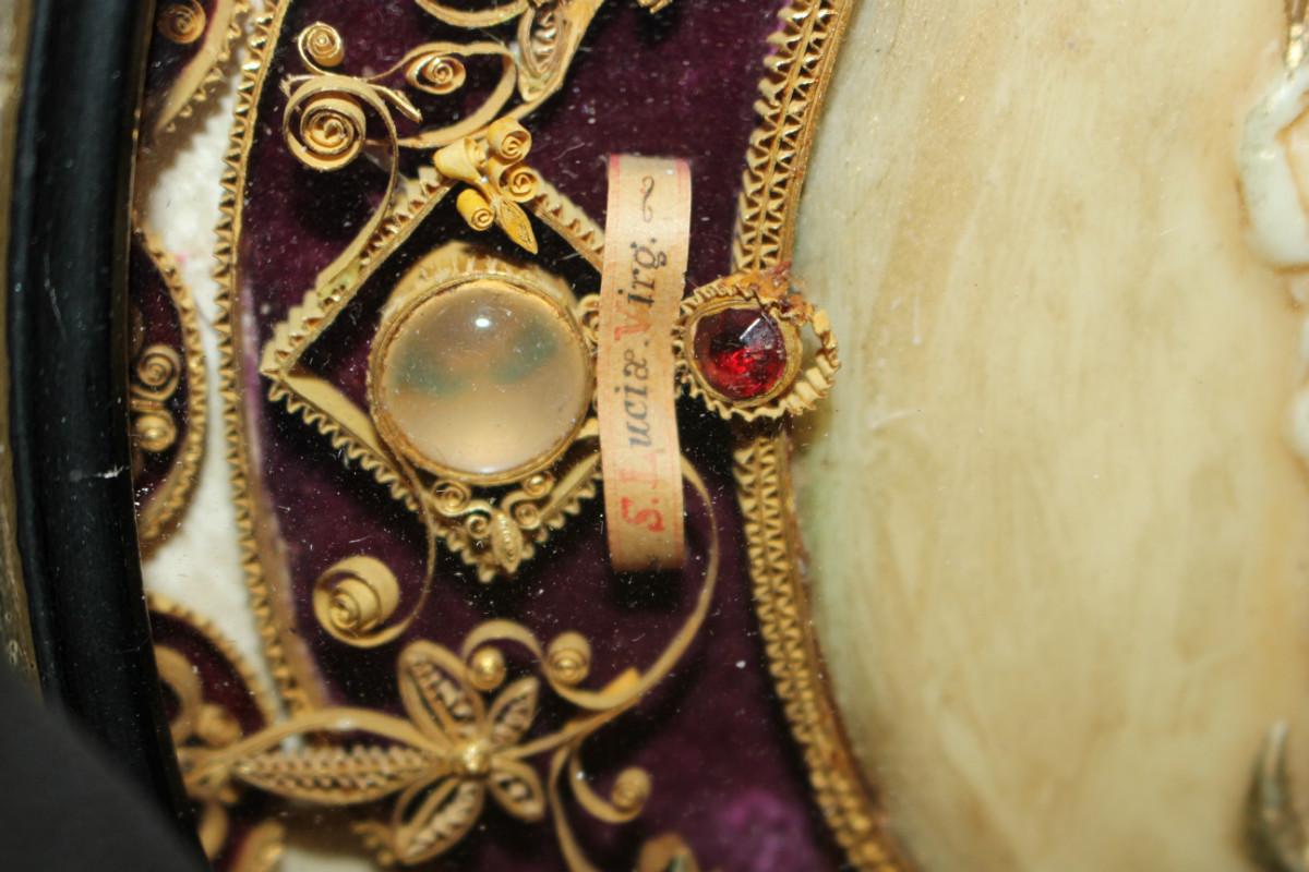 Relics Of St Christina Agatha Lucia Regina Reliquaries I Fluminalis