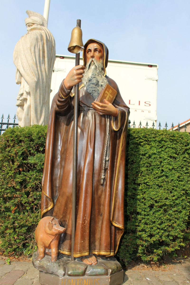 1 St Anthony Abbot Heremit Religious Church Statues