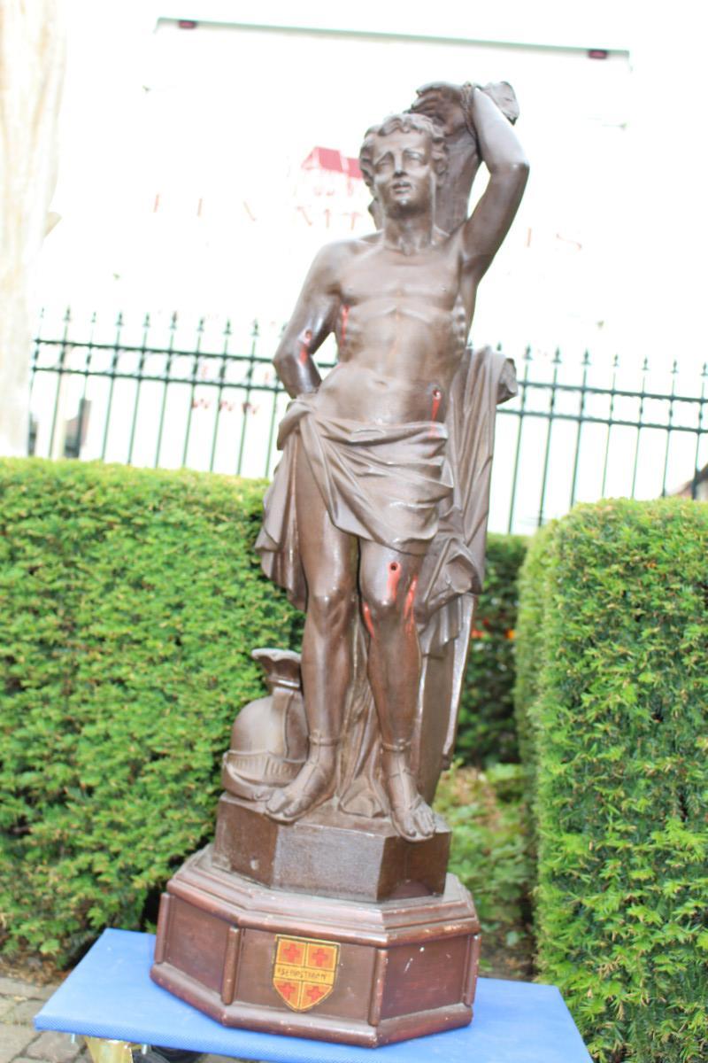 1 Statue St Sebastian Cast Iron Statues Amp Vases