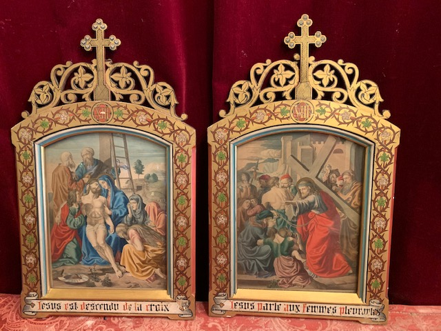 14 Gothic Style Stations Of The Cross