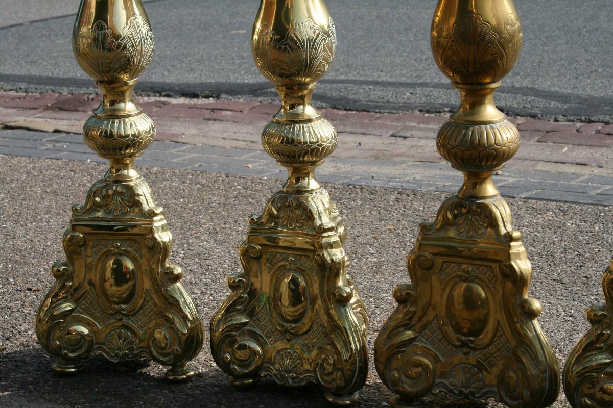 6 baroque chandeliers antique candlesticks altar for Define baroque style