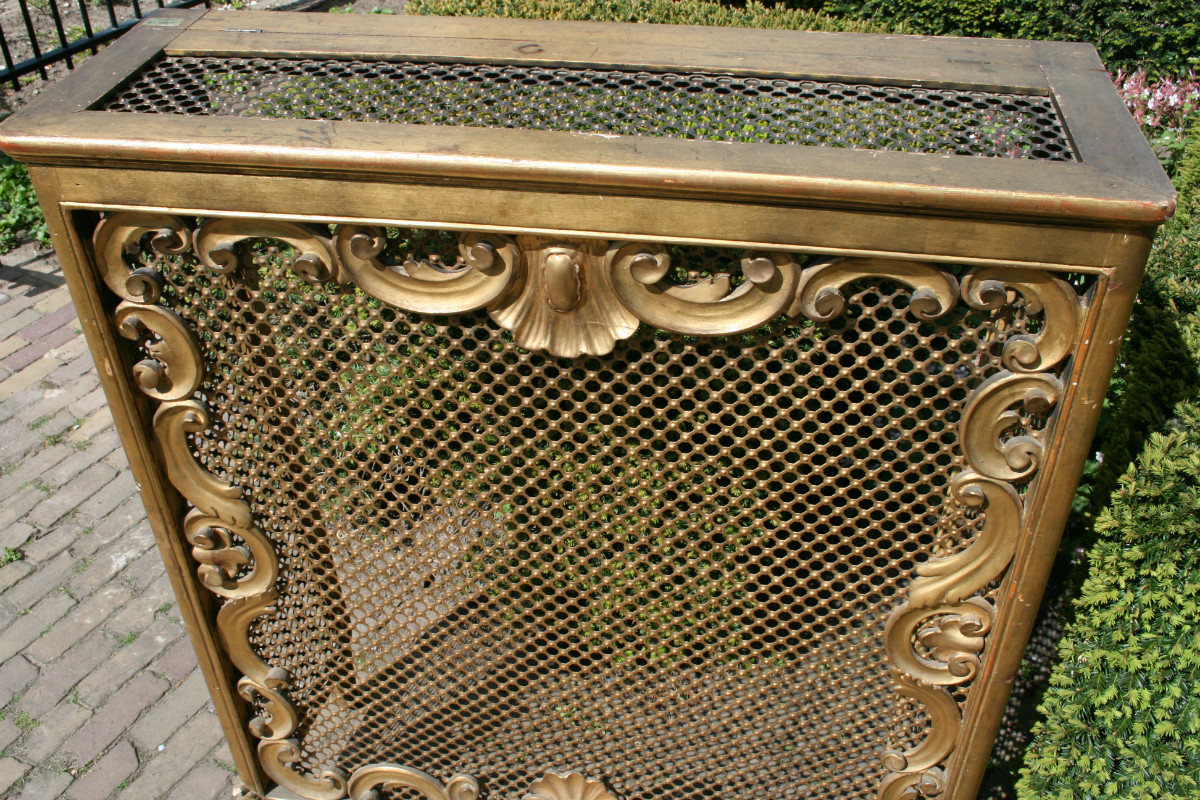 Antique Architectural Radiator Cover Baroque Furniture