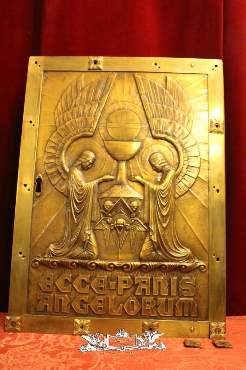 1 Art Nouveau Tabernacle-Door , Jugendstil – Art Nouveau , Brass ...