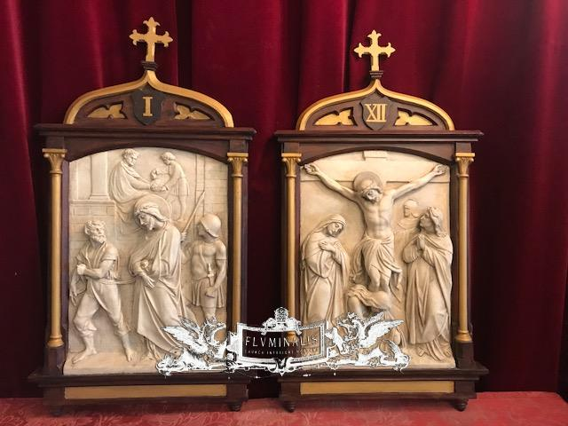 14 Gothic Style Stations Of The Cross Complete Set Stations Of The Cross Fluminalis