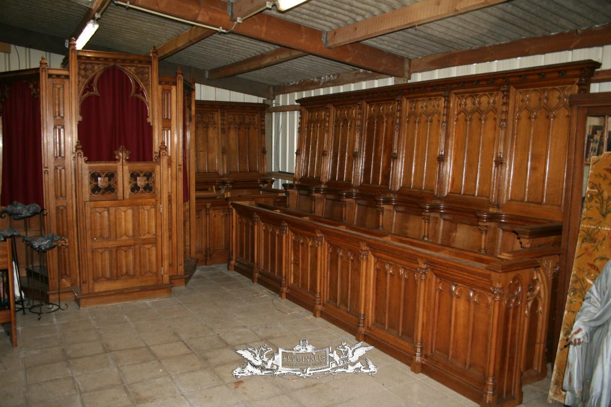 antique exeptional church furniture choirs seats - Church Furniture -  Fluminalis - Antique Exeptional Church Furniture Choirs Seats - Church Furniture