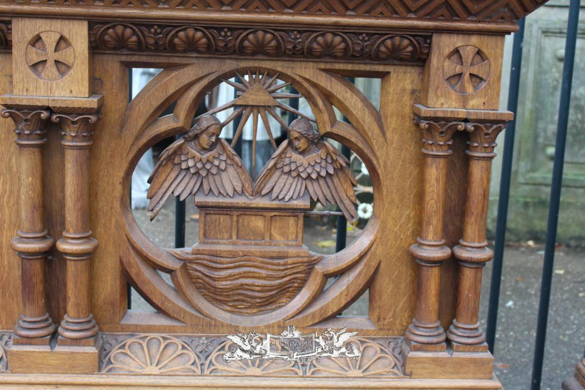 pair communion kneelers - church furniture