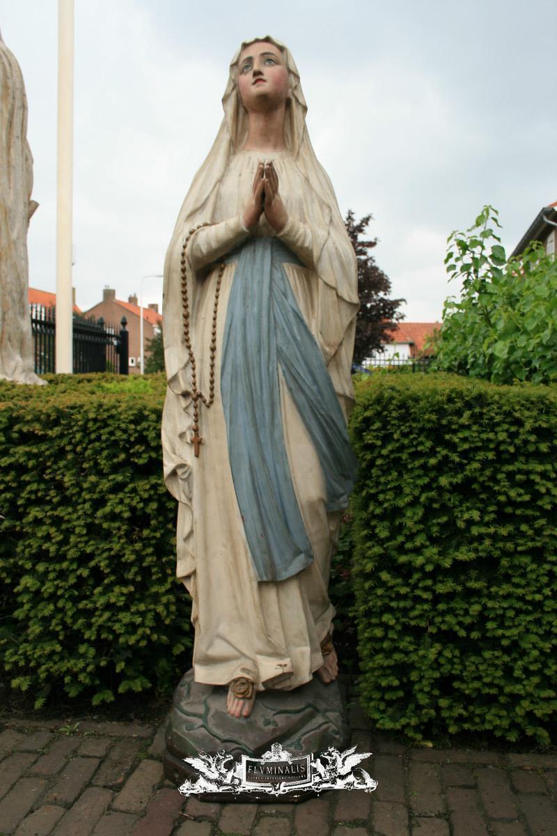 Antique Statue St Mary Of Lourdes Cast Iron Anno 1915