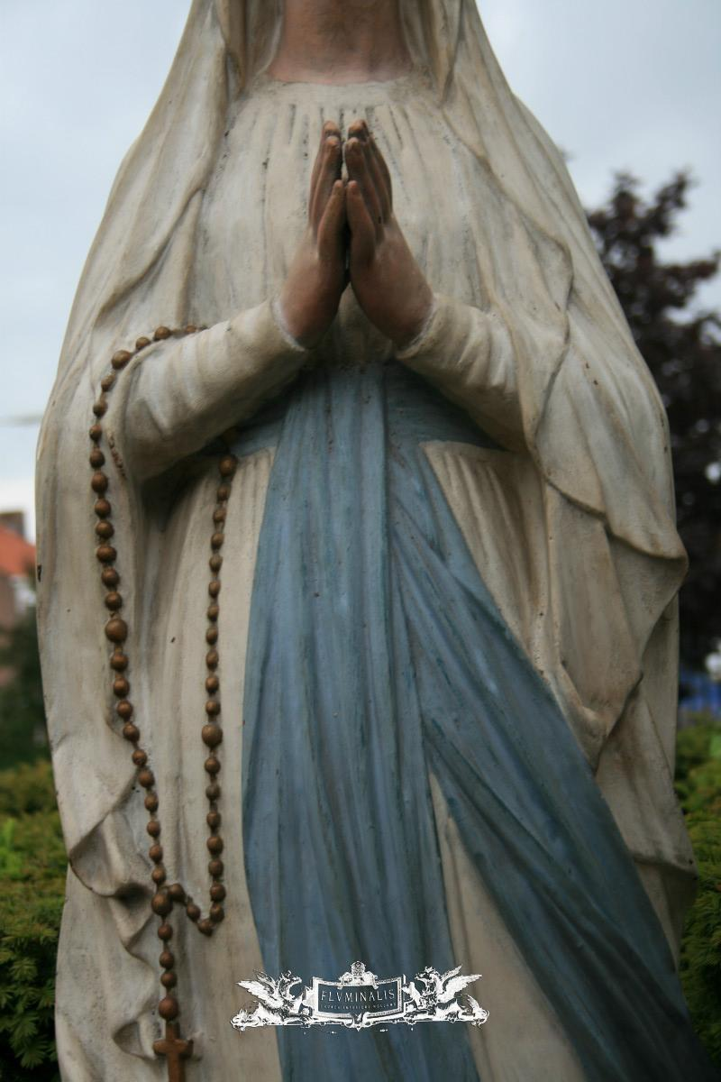 antique statue st mary of lourdes cast iron anno 1915